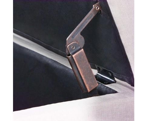 OTM A1 A1009 BG 10 - Vincent Fabric Storage Ottoman - Beige