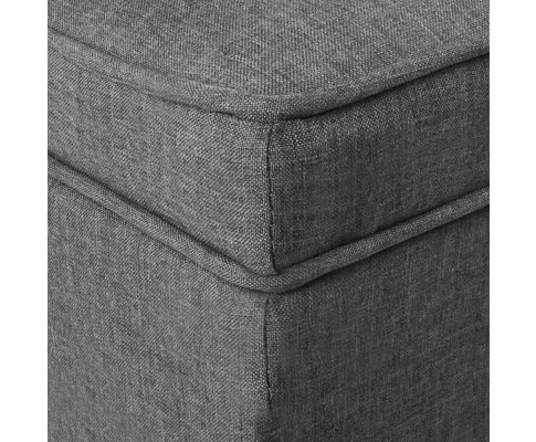 OTM A1 A1009 GY 08 - Vincent Fabric Storage Ottoman - Grey