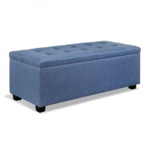 OTM L2 LINEN BU 00 300x300 - Courtney Fabric Storage Ottoman - Blue