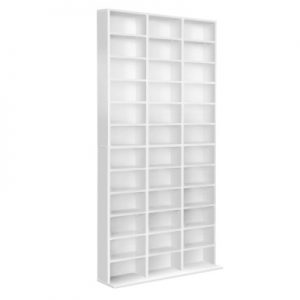cd shelf wh ab 04 300x300 - Harper Adjustable Book Storage Unit - White