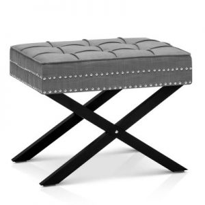fa chair otm087 gy 00 300x300 - Lincoln Fabric Foot Stool - Grey