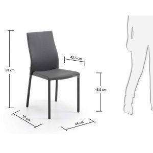 Aura 1 300x300 - Aura Dining Chair -Grey