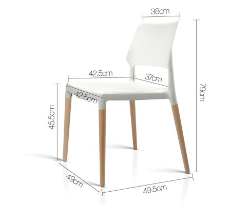 BA TW M2503 086 WHX4 01 - Cafe Belloch Chair - White