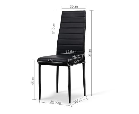 DINING B C02 BK 01 - Charge Dining Chair - PVC Black