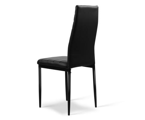 DINING B C02 BK 02 - Charge Dining Chair - PVC Black