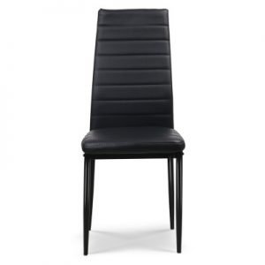 DINING B C02 BK 03 300x300 - Charge Dining Chair - PVC Black