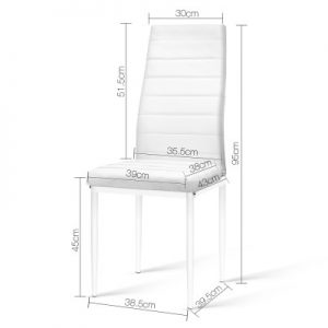 DINING B C02 WH 01 300x300 - Charge Dining Chair - PVC White