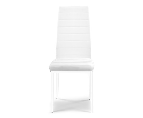 DINING B C02 WH 03 - Charge Dining Chair - PVC White
