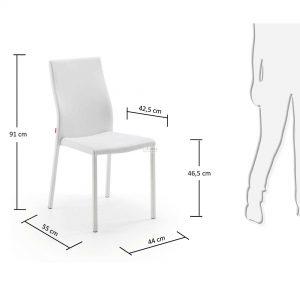c039u05 3m 300x300 - Aura Dining Chair -White