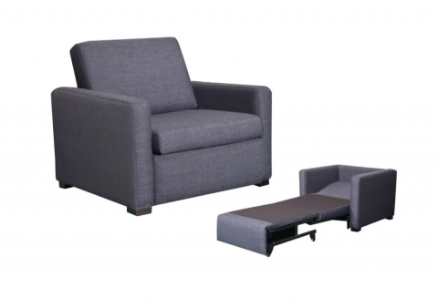 ellie - Ellie Single Sofa Bed - Charcoal