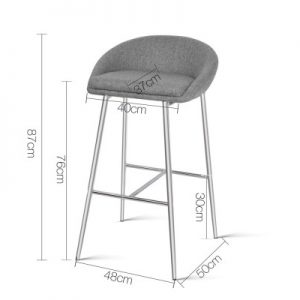 hugo1 300x300 - Hugo Bar Stool - Grey