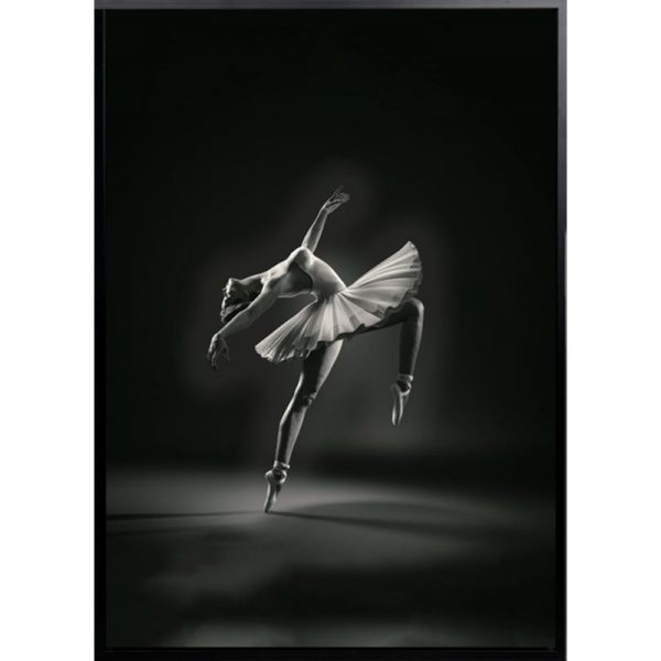 bella 600x600 - Bella Ballerina - Black & White Canvas