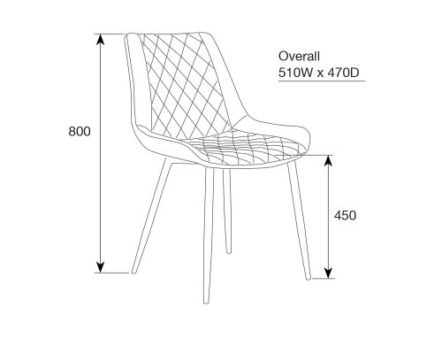 kenna3 500x400 - Kenna Dining Chair - Rust