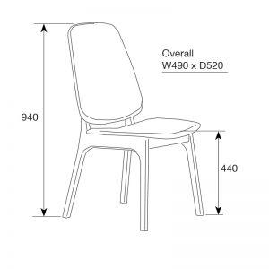 westside3 300x300 - Westside Dining Chair - Grey