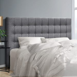 BFRAME E RAFT K LI GY 99 300x300 - Dennis Upholstered Fabric Headboard Grey-Queen Size