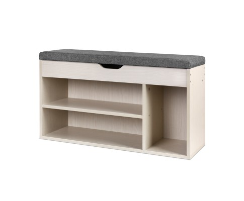 FURNI G BENCH 145 NT 00 - HOLLY Wooden Shoe Organiser