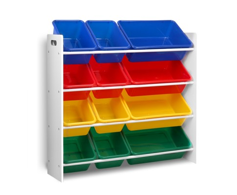 FURNI G TOY110 WH 00 - AUDREY 12 Bin Toy Rack
