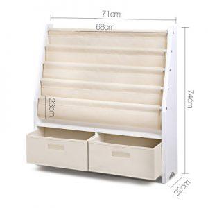 FURNI G TOY111 WH 01 300x300 - CHESTER 4 Tier Wooden Kids Bookshelf - White