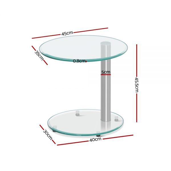 Orvit 2 600x600 - Orvit Glass Side Table