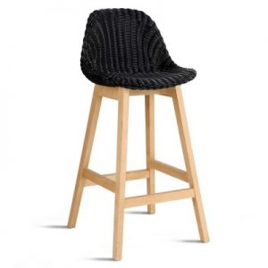 BA I 3018 BKX2 00 300x300 - Lambert Wicker Bar Stool Black