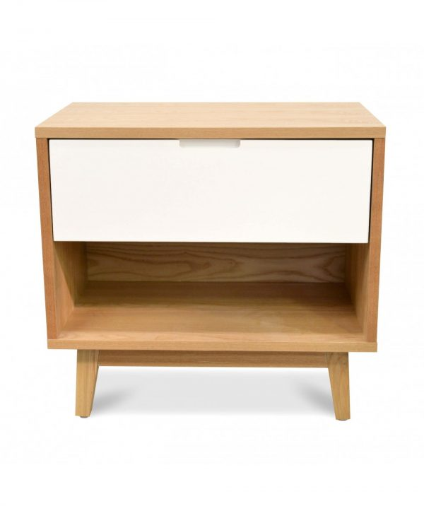 bd007 dw c 1 600x716 - Dixie Bedside White & Natural Oak