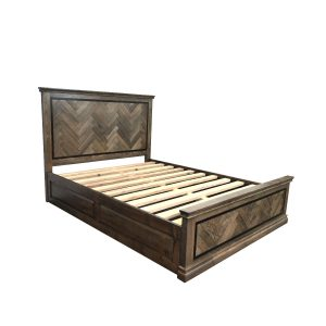 mosaic bed 02 300x300 - Mosaic Oak Queen Bed