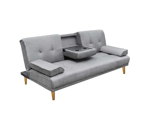 sbed r1c linen bk 00 1 - Royale 3 Seater Sofa Bed - Grey
