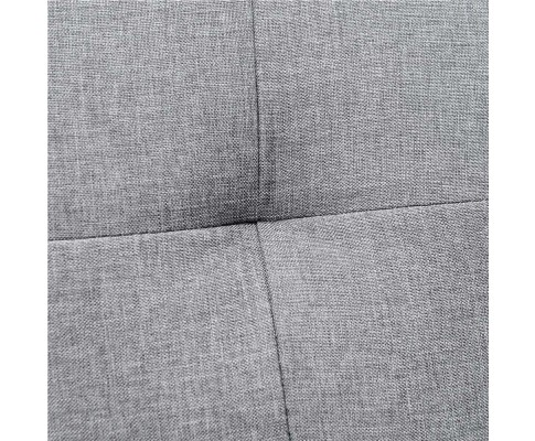 sbed r1c linen bk 04 1 - Royale 3 Seater Sofa Bed - Grey