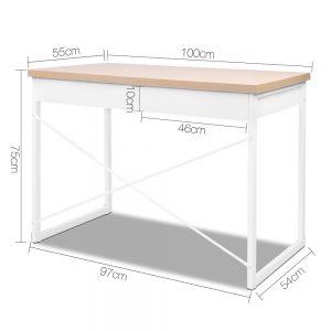 MET DESK 118 OA 01 300x300 - Zoe Desk White & Wood Top