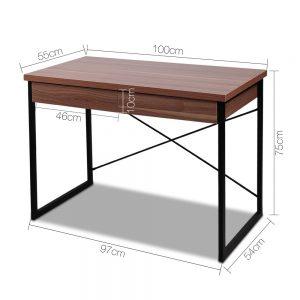 MET DESK 118 WN 01 300x300 - Zoe Desk Walnut