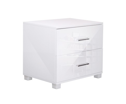 furni gloss side wh 00 - Jo Hi Gloss White Bedside