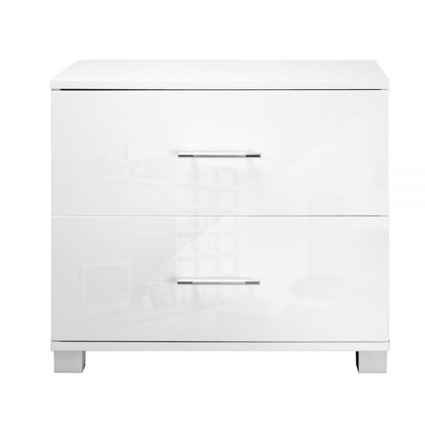 furni gloss side wh 07 600x600 - Jo Hi Gloss White Bedside