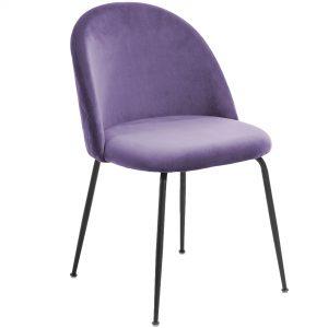 Mystere 1 300x300 - Mystere Dining Chair - Violet Velvet/Black