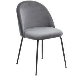 Mystere 5 300x300 - Mystere Dining Chair - Grey Velvet/Black