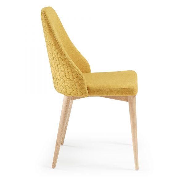 Roxie 2 600x600 - Roxie Dining Chair - Mustard