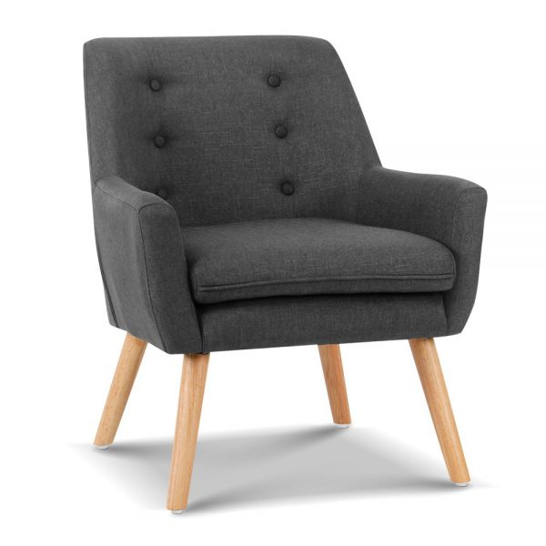 UPHO B ARM04 CHA 00 600x600 - Cleon Armchair - Charcoal