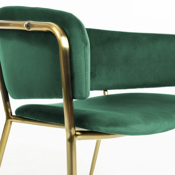 Konnie 1 600x600 - Konnie Dining Chair - Emerald Velvet/Gold