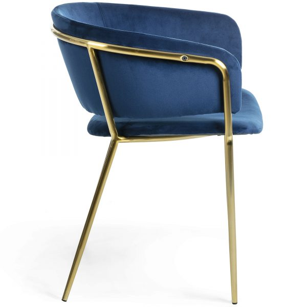 Konnie 2 600x600 - Konnie Dining Chair - Blue Velvet/Gold
