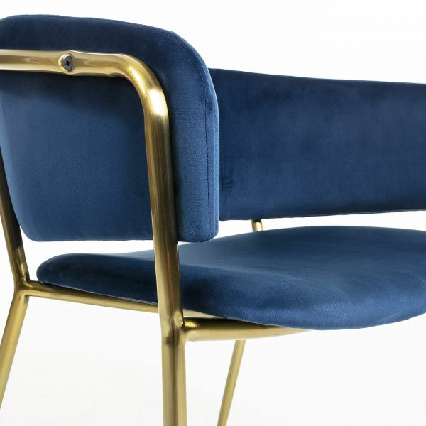 Konnie 4 600x600 - Konnie Dining Chair - Blue Velvet/Gold