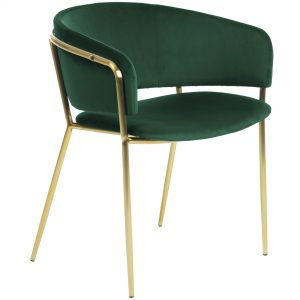 Konnie 5 300x300 - Konnie Dining Chair - Emerald Velvet/Gold