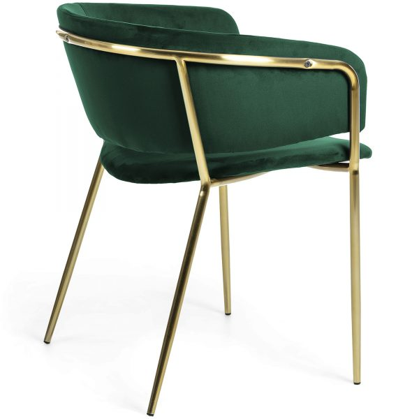 Konnie 7 600x600 - Konnie Dining Chair - Emerald Velvet/Gold