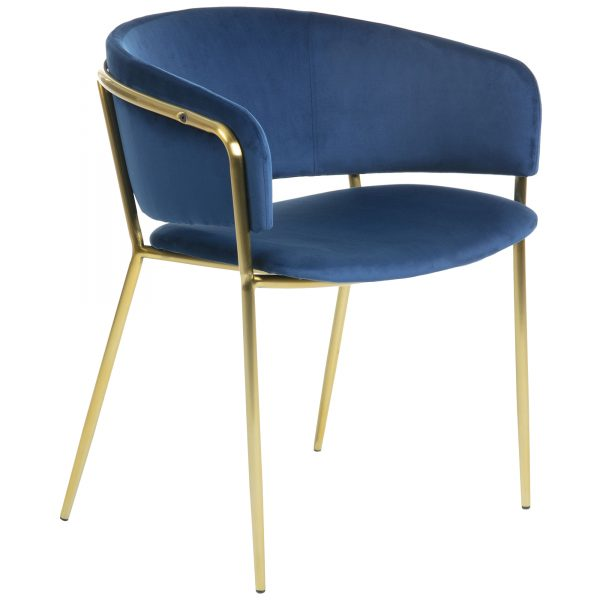 Konnie 8 600x600 - Konnie Dining Chair - Blue Velvet/Gold