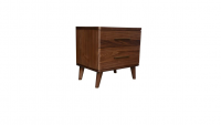 Scala Natural 1 - Scala 2 Drawer Bedside Table - Walnut