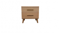 Scala Natural 2 - Scala 2 Drawer Bedside Table - Natural
