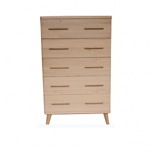 Scala Natural 300x300 - Scala 5 Drawer Tallboy - Natural