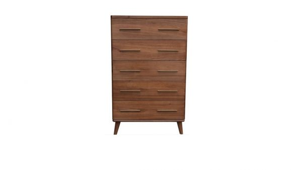 Scala1 600x338 - Scala 5 Drawer Tallboy - Walnut