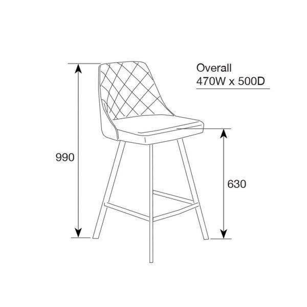 Kenns bar stool schematics bd88279d feca 4f4b a5c3 0521f073e8f3 1024x1024 600x600 - Kenna Bar Stool - Rust