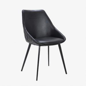 Tubeworks Ashley Chair 1024x1024 300x300 - Ashley Dining Chair - Black on Black Metal Frame