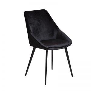 ashley3 300x300 - Ashley Dining Chair - Black Velvet on Black Metal Frame