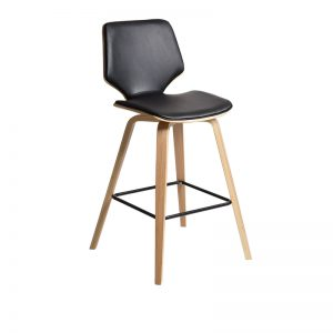 blackoak 300x300 - Ryde Barstool - Black on Oak Frame